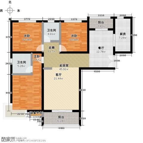 锦绣江南3室0厅2卫1厨164.00㎡户型图