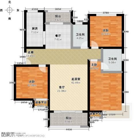 锦绣江南3室0厅2卫1厨159.00㎡户型图