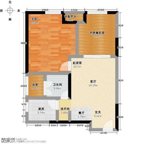 金地澜悦1室0厅1卫1厨87.00㎡户型图
