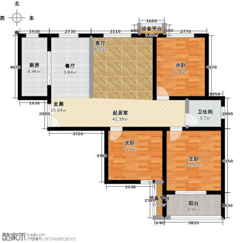 锦绣江南3室0厅1卫1厨138.00㎡户型图