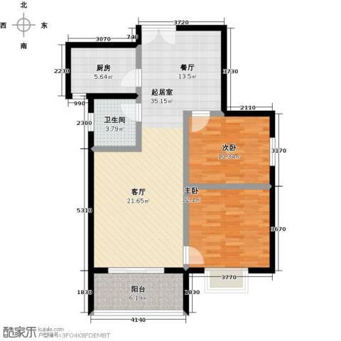 锦绣江南2室0厅1卫1厨105.00㎡户型图