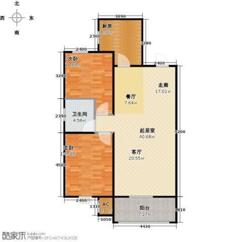 渤海豪庭2室0厅1卫1厨94.00㎡户型图