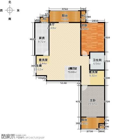 钟秀花园2室0厅1卫1厨158.00㎡户型图
