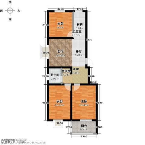 锦江花园3室0厅1卫0厨103.00㎡户型图