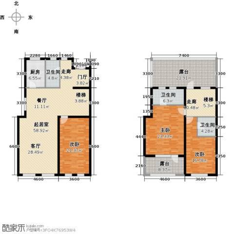 隆河谷一期3室0厅3卫1厨183.10㎡户型图