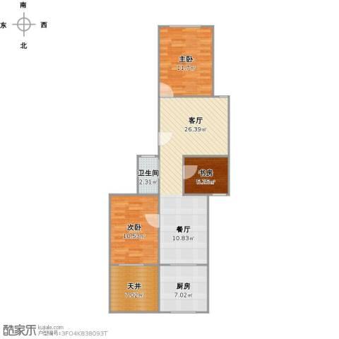 虹园六村3室1厅1卫1厨94.00㎡户型图