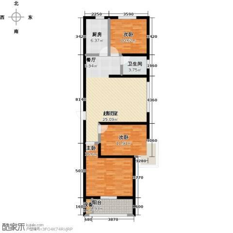 悦水澜庭3室0厅1卫1厨100.00㎡户型图