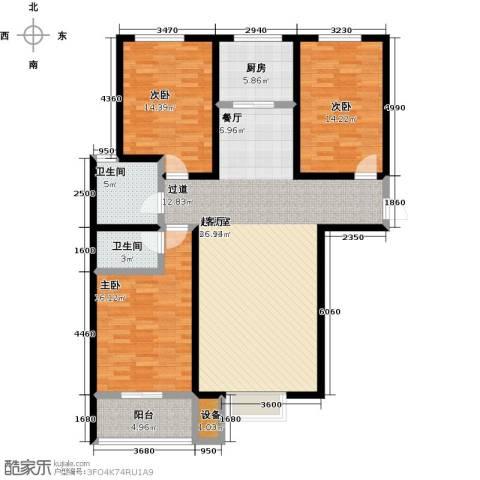 悦水澜庭3室0厅2卫1厨124.00㎡户型图