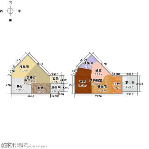 TOUCH悦城1厅2卫0厨68.00㎡户型图