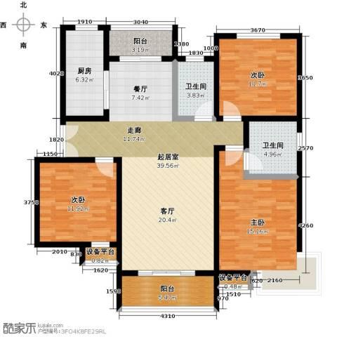 锦绣江南3室0厅2卫1厨150.00㎡户型图