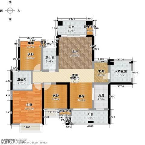 建曙高尔夫1号3室1厅2卫1厨108.00㎡户型图