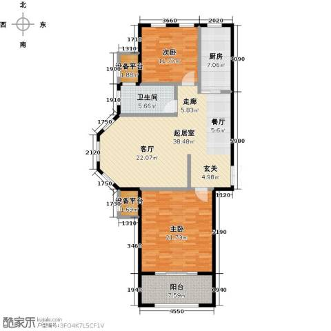 融信新新家园2室0厅1卫1厨107.00㎡户型图