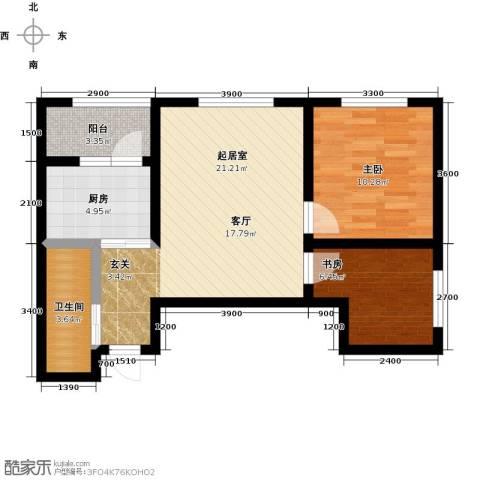 锦江花园2室0厅1卫1厨74.00㎡户型图