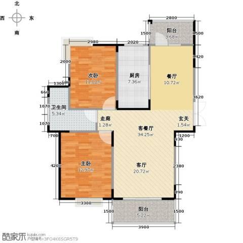 交通香樟花园2室1厅1卫1厨108.00㎡户型图