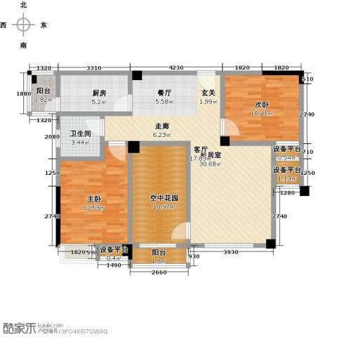 新城壹号2室0厅1卫1厨114.00㎡户型图