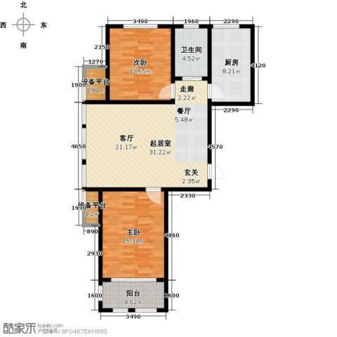 滨城美院2室0厅1卫1厨112.00㎡户型图