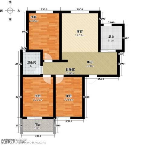 锦江花园3室0厅1卫1厨112.00㎡户型图