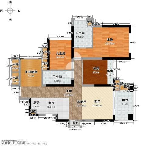 建曙高尔夫1号3室1厅2卫0厨97.51㎡户型图