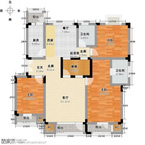福渔园枫尚河院3室0厅2卫1厨162.00㎡户型图
