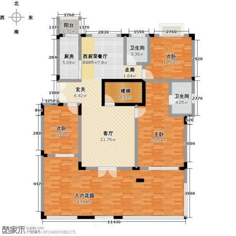 福渔园枫尚河院3室0厅2卫1厨207.00㎡户型图
