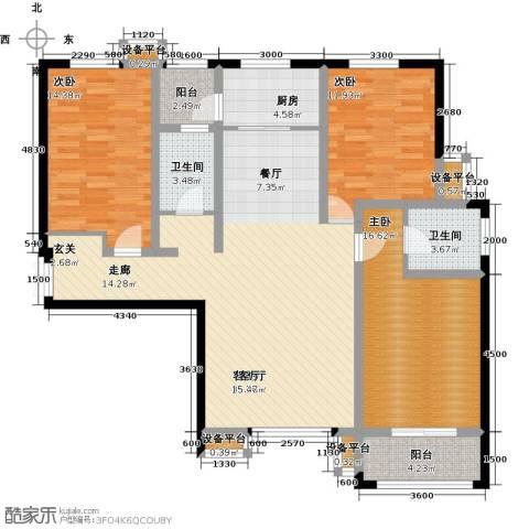 揽盛・金广厦3室1厅2卫1厨149.00㎡户型图