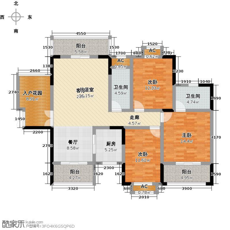 志成新世界136.60㎡8#/9# F2户型3室2厅2卫