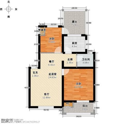 临沂魅力之城2室0厅1卫1厨95.00㎡户型图