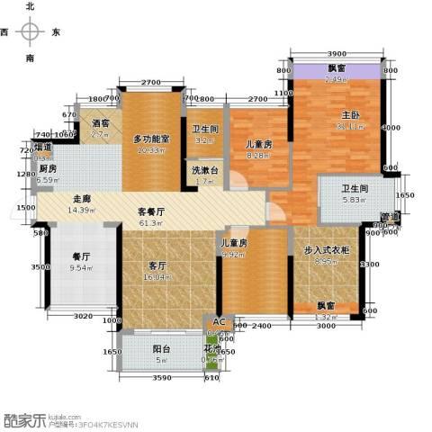 建曙高尔夫1号3室1厅2卫0厨126.28㎡户型图