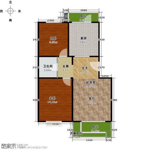 幸福时光2室0厅1卫1厨96.00㎡户型图