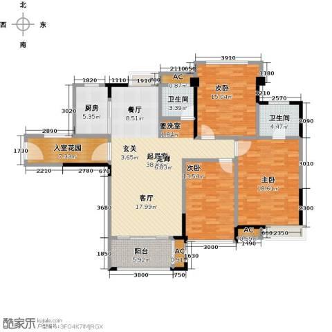 禹洲城上城3室0厅2卫1厨163.00㎡户型图