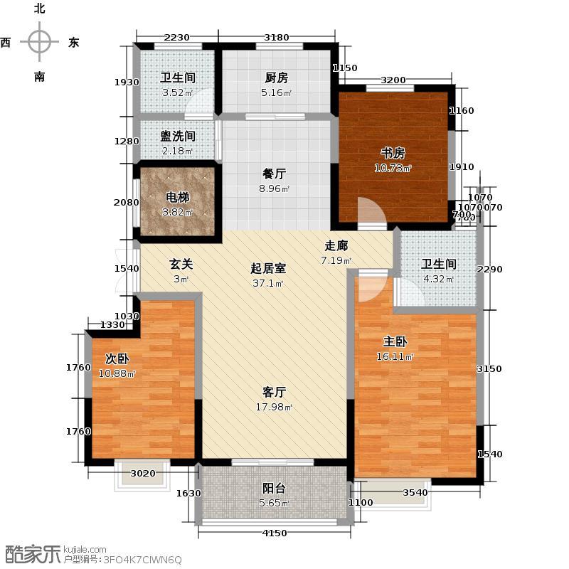 豫峰朗庭LL户型3室2卫1厨