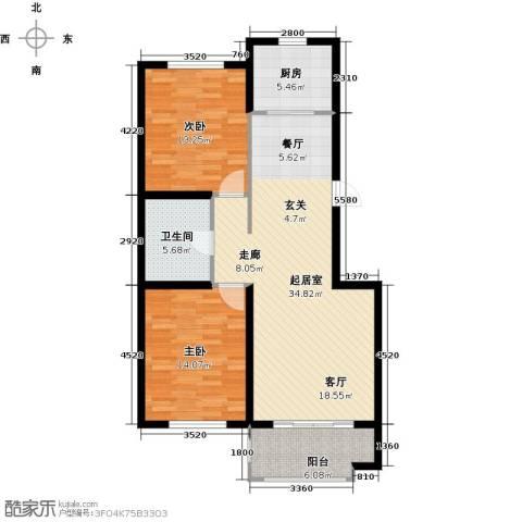 紫金湾2室0厅1卫1厨89.00㎡户型图