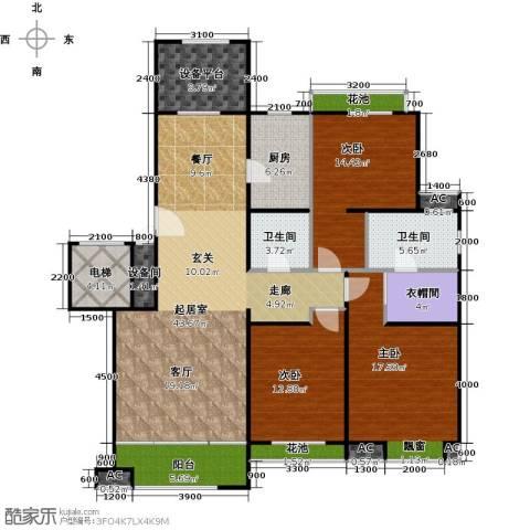 铂悦山3室0厅2卫1厨136.00㎡户型图