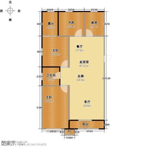 渤海豪庭3室0厅1卫1厨116.00㎡户型图