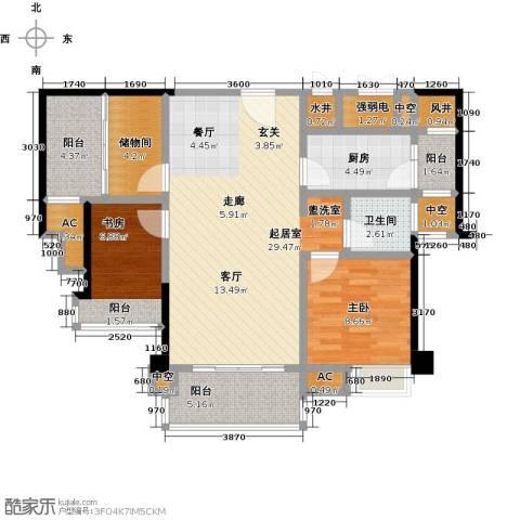 禹洲城上城2室0厅1卫1厨87.00㎡户型图