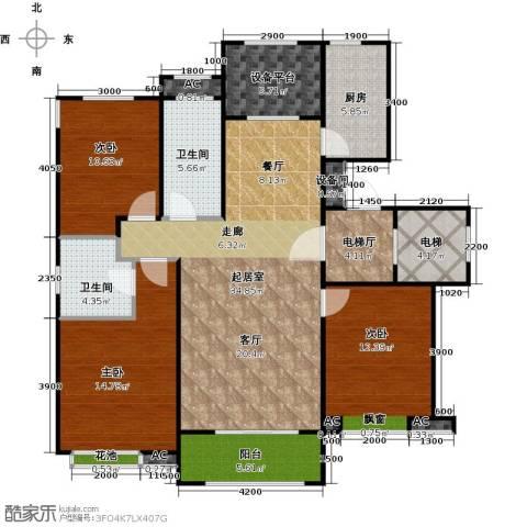 铂悦山3室0厅2卫1厨125.00㎡户型图