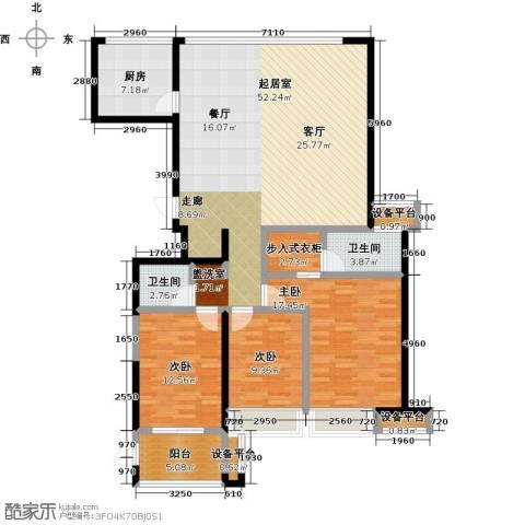 上东曼哈顿3室0厅2卫1厨133.00㎡户型图