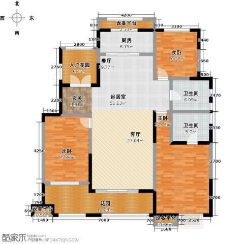 华润仰山・红叶林3室0厅2卫1厨160.00㎡户型图