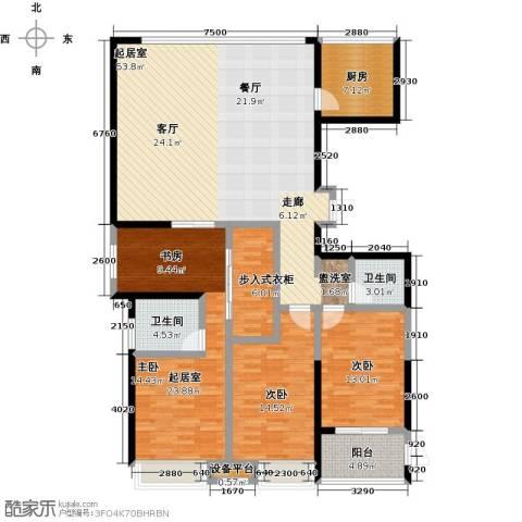 上东曼哈顿2室0厅2卫1厨150.00㎡户型图