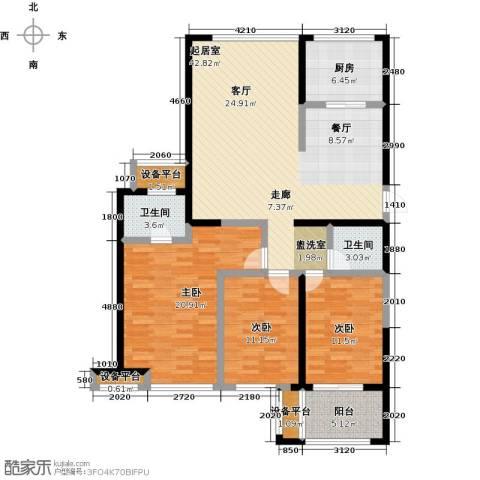 上东曼哈顿3室0厅2卫1厨123.00㎡户型图