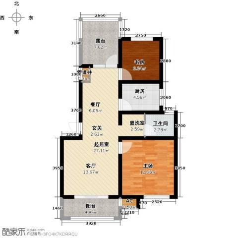 临沂魅力之城2室0厅1卫1厨78.00㎡户型图