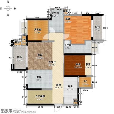 建曙高尔夫1号3室1厅2卫0厨108.00㎡户型图