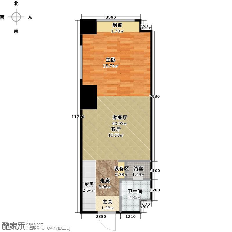 海信・龙奥9号户型1厅1卫