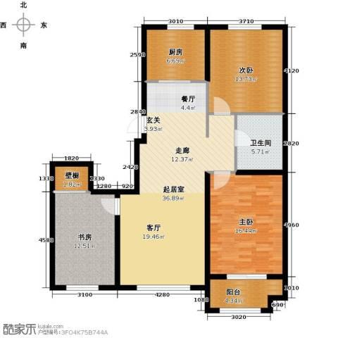 紫金湾3室0厅1卫1厨110.00㎡户型图