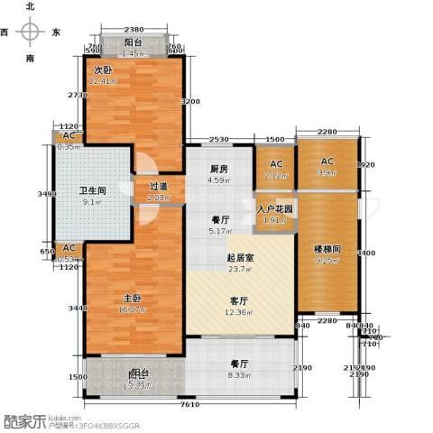 顺泽・福湾2室0厅1卫0厨128.00㎡户型图
