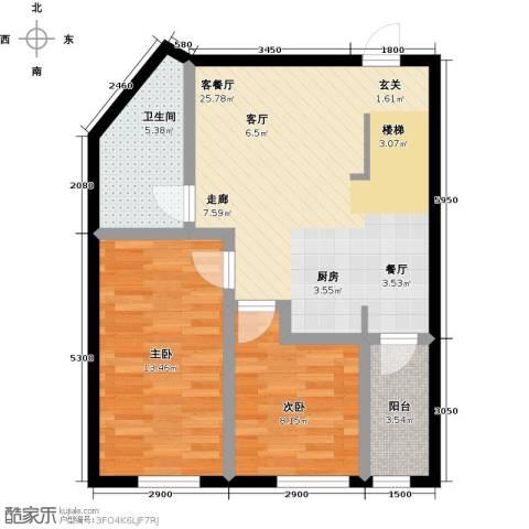 汇雄时代2室1厅1卫0厨81.00㎡户型图