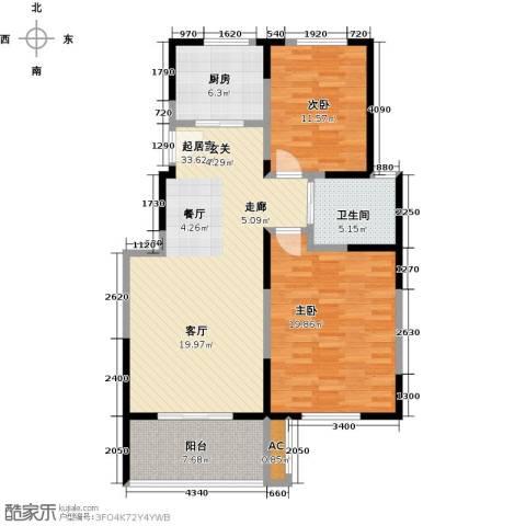 东南郡2室0厅1卫1厨119.00㎡户型图