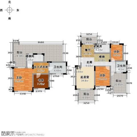 国信上城4室0厅2卫1厨183.00㎡户型图