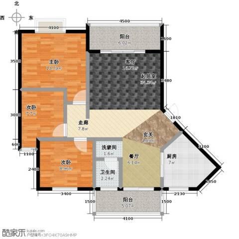 金星阳光格林3室0厅1卫1厨109.00㎡户型图