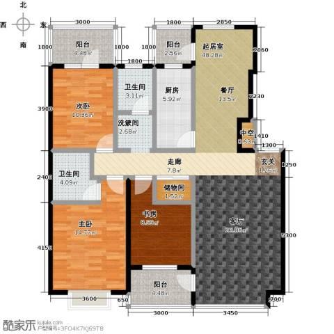 河海丽湾3室0厅2卫1厨132.00㎡户型图